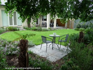 St Peters garden - relaxing space